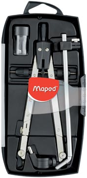 Maped verdeelpasser Giant 4-delige passerdoos: - 1 boogpasser - 1 verlengstang - 1 universele adapt...