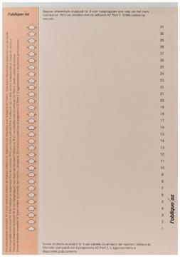 Elba ruiterstrook type 9, vel met 31 etiketten, oranje