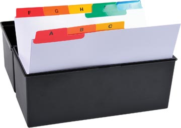 Exacompta tabbladen voor systeemkaartenbakken, 25 tabs, ft A5