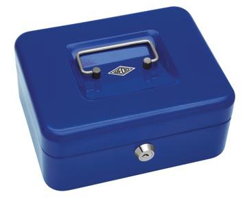 Wedo geldkoffer, ft 20 x 16 x 9 cm, blauw