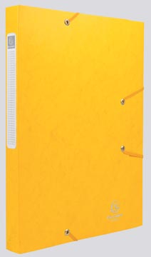 Exacompta Elastobox Cartobox rug van 2,5 cm, geel, 5/10e kwaliteit
