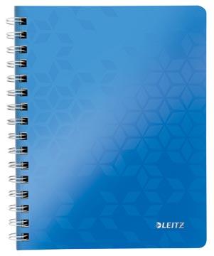 Leitz WOW schrift ft A4, geruit 5 mm, blauw