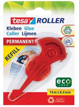 Tesa Roller navulling lijmroller permanent ecoLogo, ft 8,4 mm x 14 m, op blister
