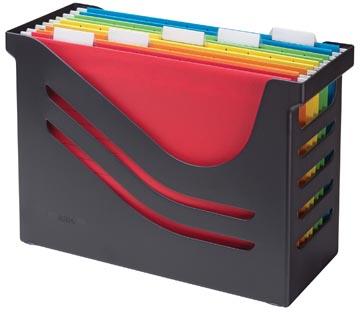 Re-solution hangmappenbox met 5 hangmappen, zwart