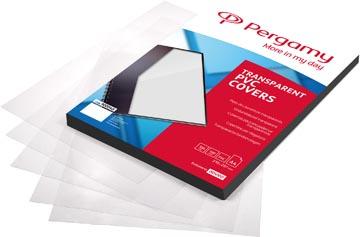 Pergamy omslagen uit transparante PVC ft A4, 150 micron, pak van 100 stuks