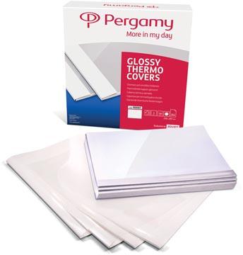 Pergamy thermische omslagen ft A4, 3 mm, pak van 100 stuks, wit