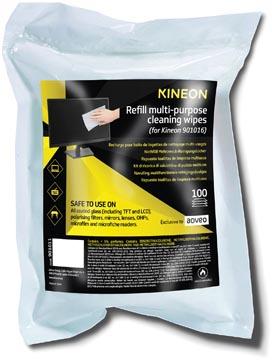 Kineon multifunctionele reinigingsdoekjes, navulpak van 100 doekjes