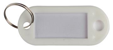 Q-Connect sleutelhanger, pak van 10 stuks, wit