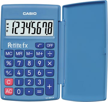 Casio zakrekenmachine Petite FX, blauw