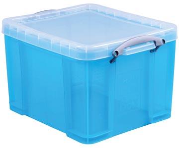 Really Useful Box opbergdoos 35 liter, transparant helblauw