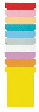 Nobo T-planbordkaarten index 4, ft 180 x 124 mm, lichtblauw