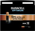 Duracell batterij Optimum AAA, blister van 12 stuks